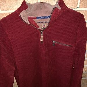 Tommy Hilfiger Vintage 90's polyester red sweater